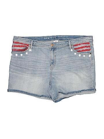 Ava & Viv Denim Shorts Size 22 (Plus)