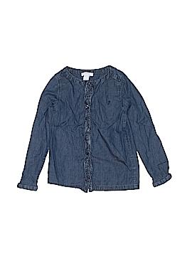 Jacadi Long Sleeve Button-Down Shirt Size 6