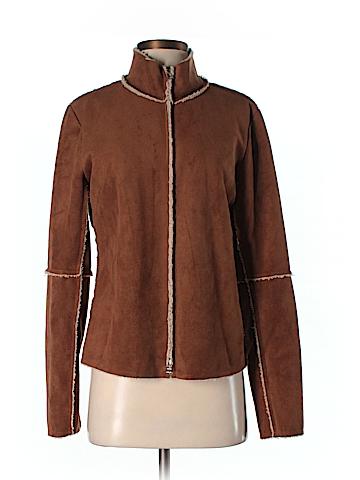 Velvet Faux Leather Jacket Size M