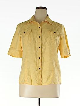 Saks Fifth Avenue Short Sleeve Button-Down Shirt Size 16