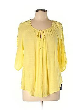 BCX 3/4 Sleeve Blouse Size L
