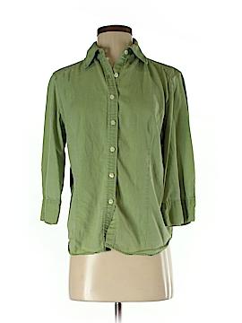 Karen Scott 3/4 Sleeve Button-Down Shirt Size S