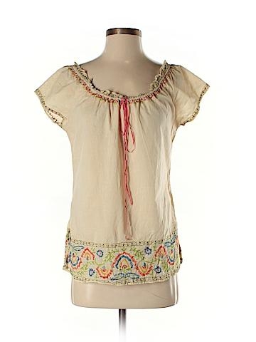 Lucky Brand Short Sleeve Blouse Size M