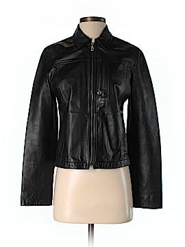 Armani Jeans Leather Jacket Size 6