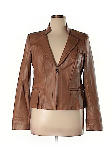 White House Black Market Leather Jacket Size XL