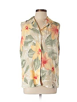 Liz Claiborne Golf Sleeveless Silk Top Size L