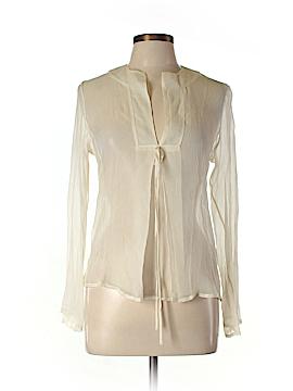 Zara Long Sleeve Silk Top Size M