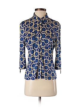 J. McLaughlin 3/4 Sleeve Silk Top Size S