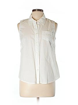 Boden Sleeveless Button-Down Shirt Size 10 (Petite)