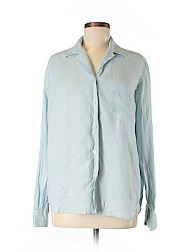 Evan Picone Long Sleeve Button-Down Shirt Size M