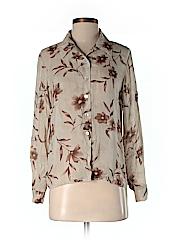 Petite Sophisticate Women Long Sleeve Blouse Size P