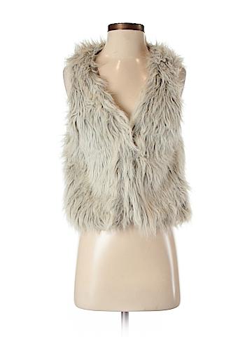 Volcom Faux Fur Vest Size XS