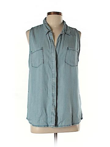 Lovestitch Sleeveless Button-Down Shirt Size L