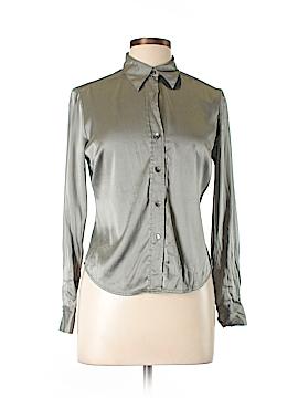 INC International Concepts Long Sleeve Silk Top Size 10 (Petite)