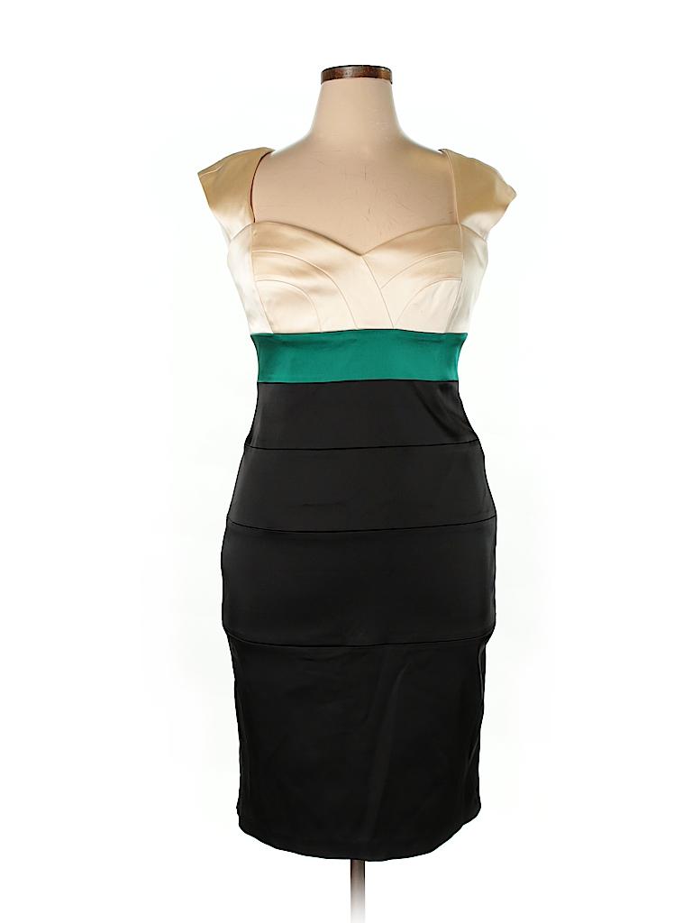 Jax Color Block Black Cocktail Dress Size 14 - 83% off   thredUP