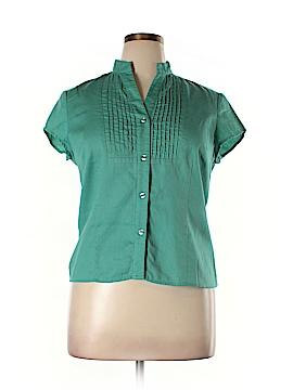 Jones Wear Short Sleeve Button-Down Shirt Size XL (Petite)