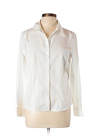 Foxcroft Long Sleeve Button-Down Shirt Size 12 (Petite)