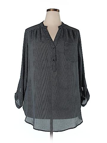 Zac & Rachel Long Sleeve Blouse Size 2X (Plus)