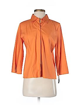 DKNY 3/4 Sleeve Button-Down Shirt Size 4