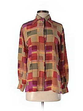 Tess Long Sleeve Silk Top Size S