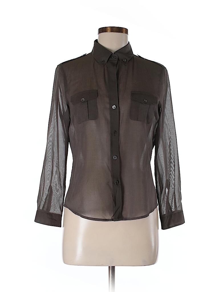 Theory Women Long Sleeve Button-Down Shirt Size M