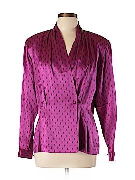 Evan Picone Long Sleeve Silk Top Size 14