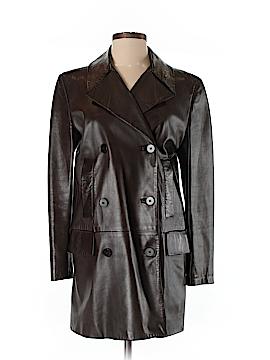 Calvin Klein Leather Jacket Size 4