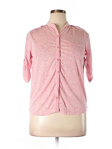 No Boundaries 3/4 Sleeve Button-Down Shirt Size 16
