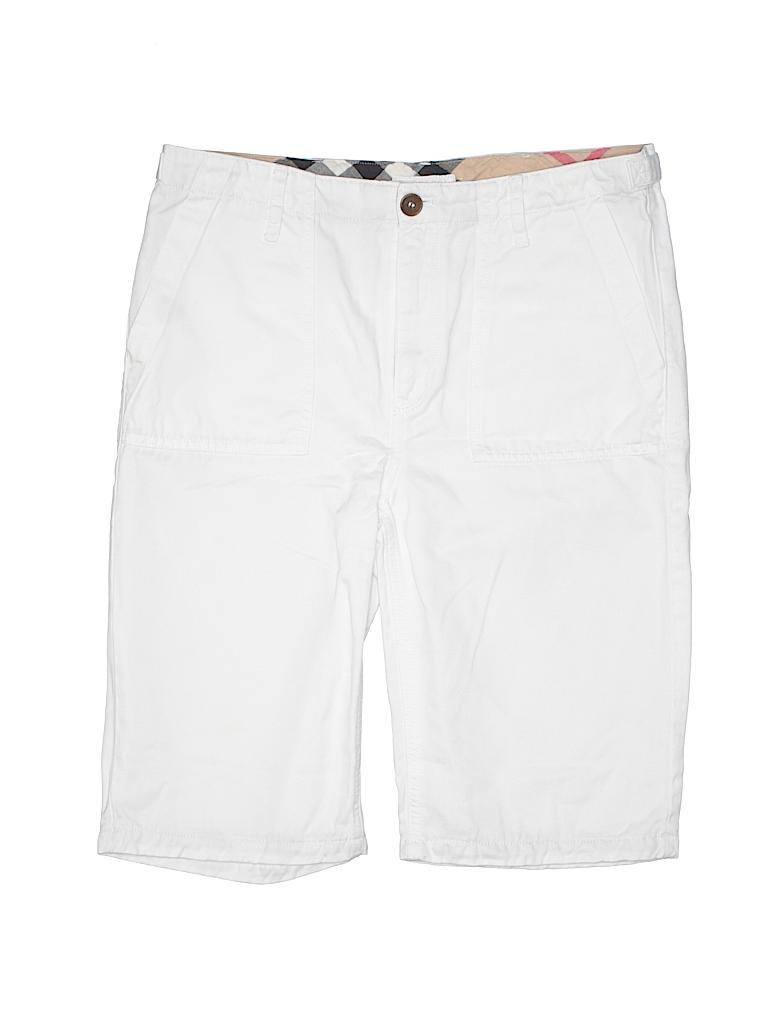 99603d0157c2 Burberry Solid White Khaki Shorts Size 14 - 79% off