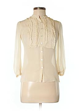 M.S.S.P. 3/4 Sleeve Silk Top Size XS