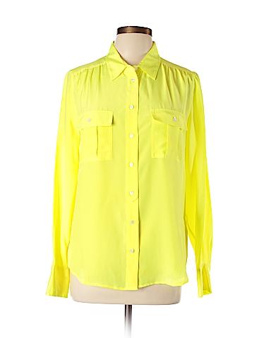 J. Crew Long Sleeve Silk Top Size 10
