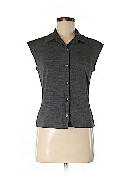Ann Taylor Short Sleeve Button-Down Shirt Size M