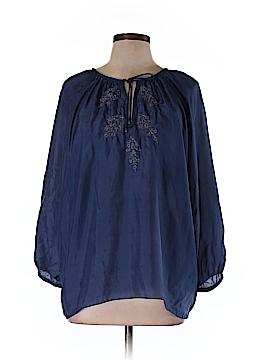 Creme Fraiche 3/4 Sleeve Silk Top Size L