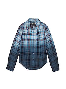 Me Jane Long Sleeve Button-Down Shirt Size 7