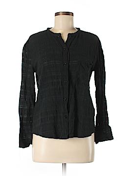 Raquel Allegra Long Sleeve Button-Down Shirt Size Med (2)