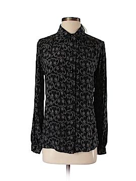 Leona by Lauren Leonard Long Sleeve Silk Top Size S