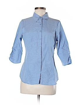 Mojo Moxy 3/4 Sleeve Button-Down Shirt Size M