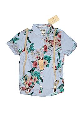 Scotch Shrunk Short Sleeve Button-Down Shirt Size 10