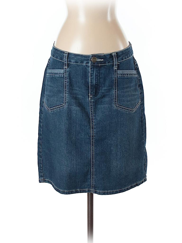 407c041920 DressBarn Solid Dark Blue Denim Skirt Size 4 - 79% off