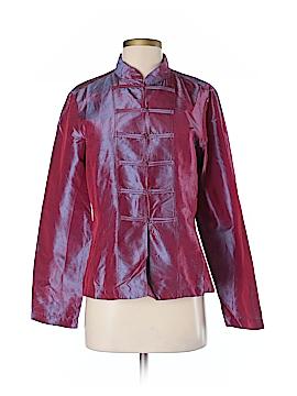 Dosa Long Sleeve Silk Top Size 4