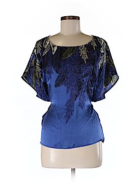HD in Paris Short Sleeve Silk Top Size S