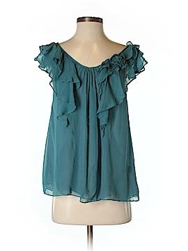 Blue Velvet Sleeveless Silk Top Size S