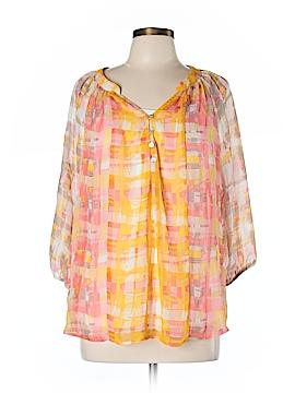 Figueroa & Flower 3/4 Sleeve Blouse Size L