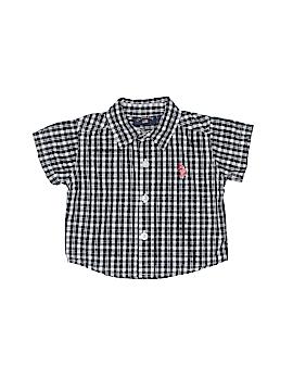 U.S. Polo Assn. Short Sleeve Button-Down Shirt Size 0-3 mo