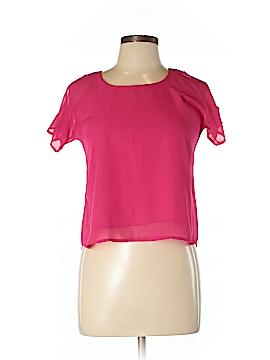 Un Deux Trois Short Sleeve Blouse Size L