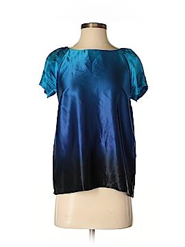 Kensie Short Sleeve Silk Top Size S