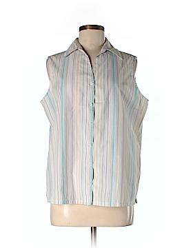 SW Studio Works Sleeveless Button-Down Shirt Size M