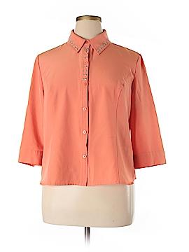 Kathy Che 3/4 Sleeve Blouse Size XL (Petite)