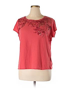 Tahari Short Sleeve T-Shirt Size 1X (Plus)