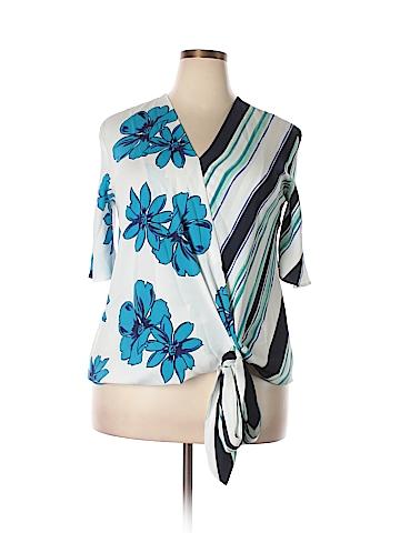 Halogen Short Sleeve Blouse Size XL
